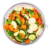 Tiefgefrorenes Gemüse, Vitamine konservierend lizenzfreies stockbild
