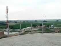 Tiefland-Dorf-Plan stockbild