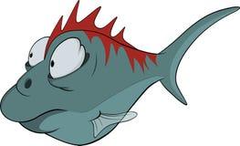 Tiefwasserfische. Karikatur Lizenzfreie Stockfotos