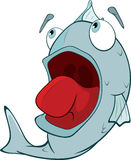 Tiefwasserfische. Karikatur Stockfotografie