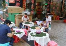Tieguanyin tea sellers Stock Image
