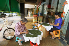 Tieguanyin tea sellers Royalty Free Stock Photography