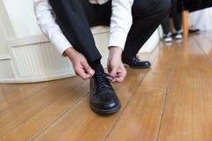 Tieing Shoe Stock Photos