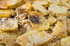 Tiella das batatas, do arroz e dos mexilhões. Fotografia de Stock Royalty Free