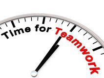 Tiem for Teamwork Royalty Free Stock Photos