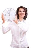 Tiempo/él está 5 antes de 12 Imagenes de archivo
