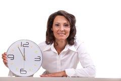 Tiempo/él está 5 antes de 12 Fotos de archivo
