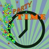 Tiempo abstracto del fondo escrito dentro, ejemplo del vector Imagen de archivo libre de regalías