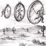 Tiempo adentro a adentro fuera de tiempo Imagen de archivo libre de regalías