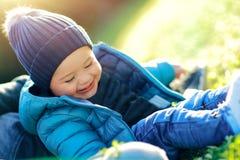 Tiempo alegre del bebé Imagen de archivo