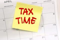 Tiempo americano del impuesto Imagen de archivo libre de regalías
