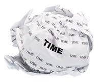 Tiempo arrugado Foto de archivo
