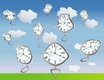 Tiempo combado ilustración del vector
