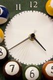 Tiempo de Billard Foto de archivo libre de regalías