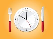 Tiempo de cena ilustración del vector