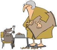 Tiempo de cena de los perros ilustración del vector