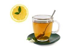 Tiempo de consumición del té Fotografía de archivo libre de regalías