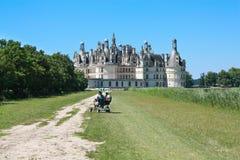 Tiempo de la calidad del gasto en el castillo de Chambord foto de archivo libre de regalías
