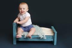 Tiempo de la cama de bebé Imagen de archivo libre de regalías
