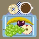 Tiempo de la comida campestre, naturaleza, reconstrucción al aire libre, servilleta, desayuno Imagenes de archivo