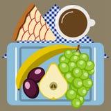 Tiempo de la comida campestre, naturaleza, reconstrucción al aire libre, servilleta, desayuno Fotografía de archivo libre de regalías