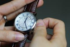 Tiempo de la configuración Fotografía de archivo libre de regalías