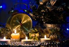 Tiempo de la demostración del Año Nuevo del reloj Fotos de archivo