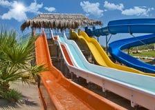 Tiempo de la diversión en Aqua Park en Esmirna Foto de archivo libre de regalías