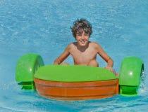 Tiempo de la diversión en Aqua Park en Esmirna Fotografía de archivo libre de regalías