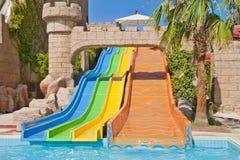 Tiempo de la diversión en Aqua Park, Esmirna Imagen de archivo