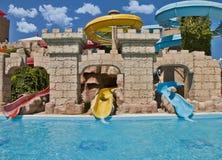 Tiempo de la diversión en Aqua Park, Esmirna Foto de archivo