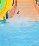 Tiempo de la diversión en Aqua Park, Esmirna Imagenes de archivo
