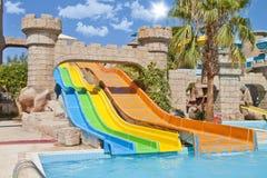 Tiempo de la diversión en Aqua Park, Esmirna Imagen de archivo libre de regalías