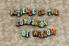 Tiempo de la educación de la sabiduría del compañero de la paciencia libre illustration