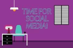 Tiempo de la escritura del texto de la escritura para los medios sociales Amigos de la reunión del significado del concepto nuevo stock de ilustración