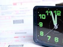 Tiempo de la factura Fotografía de archivo libre de regalías