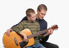 Tiempo de la guitarra Imágenes de archivo libres de regalías
