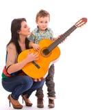 Tiempo de la guitarra foto de archivo