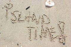 Tiempo de la isla Imagenes de archivo