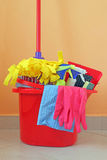 Tiempo de la limpieza Imagen de archivo libre de regalías