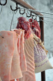 Tiempo de la matanza del cerdo Foto de archivo libre de regalías