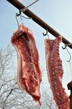 Tiempo de la matanza del cerdo Imágenes de archivo libres de regalías