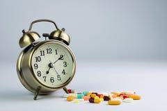 Tiempo de la medicina Foto de archivo