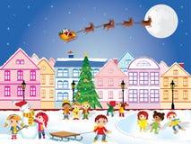 Tiempo de la Navidad ilustración del vector