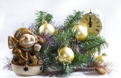 Tiempo de la Navidad (3 con el muñeco de nieve) Foto de archivo libre de regalías
