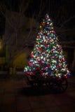 Tiempo de la Navidad en ciudad vieja Imagen de archivo