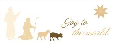 Tiempo de la Navidad - pastores stock de ilustración