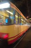 Tiempo de la Navidad, tranvía Imagen de archivo