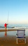 Tiempo de la pesca Foto de archivo