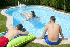 Tiempo de la piscina Imagenes de archivo